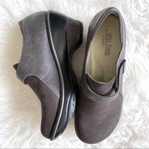 Jambu Sedona charchoal clog wedge comfort shoe